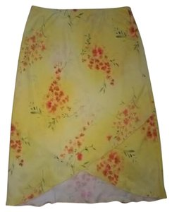 Other Skirt yellow with orange flowers