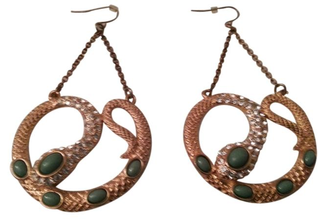 Item - Green/ Gold Serpent Earrings