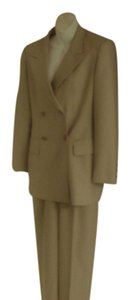 Escada NEW ESCADA MARGARETHA LEY WOMAN'S LOVELY BEIGE PANT SUIT Size 34 36 US WOOL UNWORN DRESS PANTS & SUIT JACKET 4 64 6
