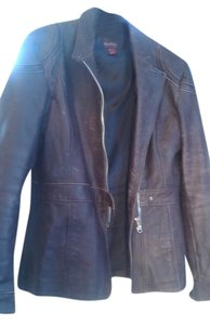 Bomb Boogie Brown Leather Jacket