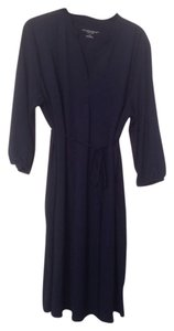 Liz Lange Maternity Liz Lange Maternity Large Navy Belted Shirt Dress