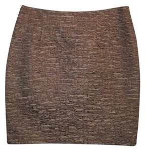 MICHAEL Michael Kors Mini Skirt Bronze/light brown