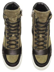 Balmain x H&M Leather Athletic Olive green & Black Suede Boots