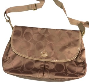 Coach Crossbody Nylon British Tan Messenger Bag