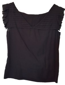 Club Monaco Pleated Top Black