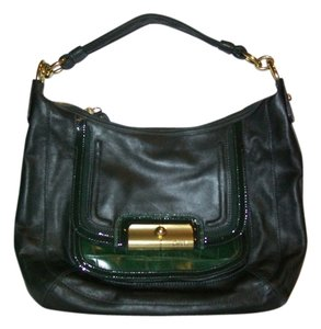 Coach Satchel in Dark Green