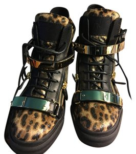 Giuseppe Zanotti Leopard print , black and gold Athletic
