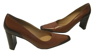 Robert Clergerie French All Leather Browns Pumps