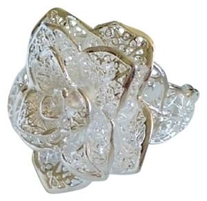 Other NEW 925 Sterling Silver Flower Ring , Size adjustable