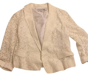 Forever 21 Whithe lace Blazer