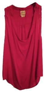 Haute Hippie Silk Drape Loose Dark Top Pink