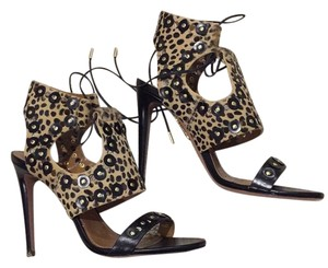 Aquazzura Black and cheetah Formal