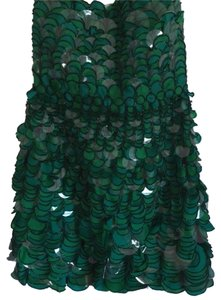 Diane von Furstenberg Sequin Beaded Strapless Dress