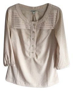 Banana Republic Top Beige Herringbone