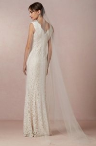 BHLDN Diamond White Long 'sky Mist' Bridal Veil