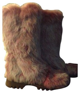 BEBE Pink Fur Snow Boots Boots