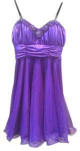 Xscape Prom Sweet 16 Beaded Elegant Feminine Cocktail Bridesmaids Dress