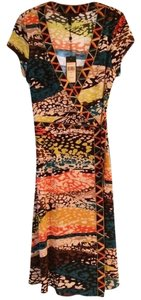 BCBGMAXAZRIA Wrap Cap Sleeve Dress