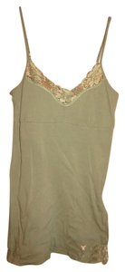 American Eagle Outfitters Green Lace Lace Trim Top Dark Green
