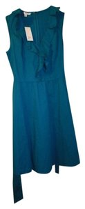 Bass short dress Celestial Teal Tea Length A-line Cotton on Tradesy