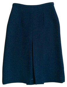 Céline Pleated Wool Modern Skirt DARK NAVY