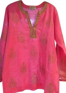 Bella Tu Linen Beaded Tunic