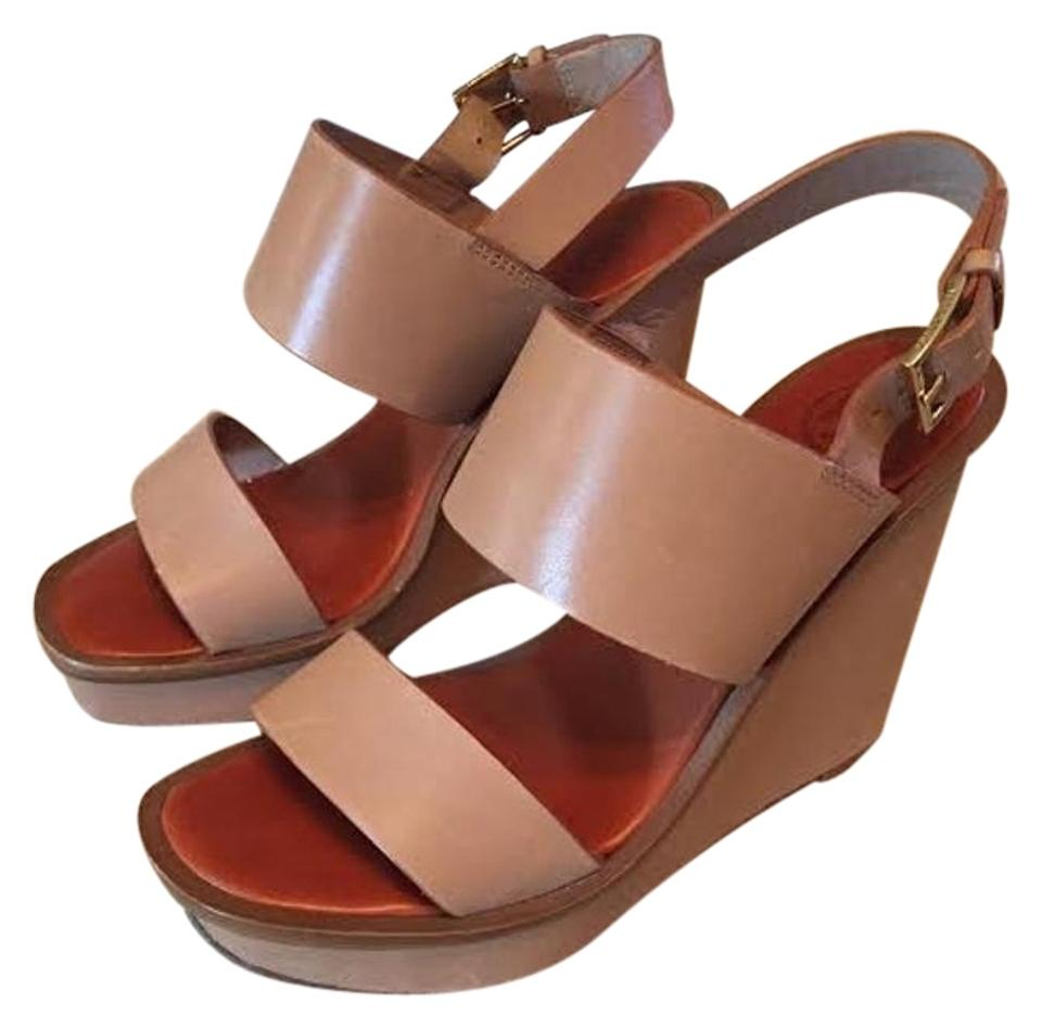 fa12be602d48 Tory Burch Lexington Lexington Wedge Leather Leather Wedges luggage blush  Sandals Image 0 ...