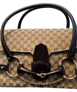 Gucci Portfolio Briefcase Satchel in Brown