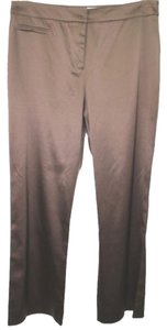 Victor Costa Satin Straight Pants BROWN