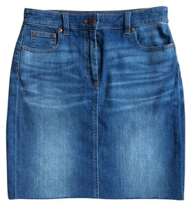J.Crew Denim Mini Skirt MEDIUM INDIGO