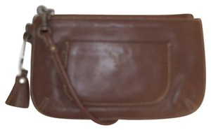 American Eagle Outfitters Leather Travel Leather Wristlet in Brown