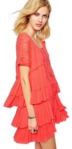Free People short dress Coral Beach Flowy on Tradesy