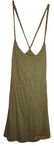 Aerie American Eagle Green Dots Polka Dot Top Dark Green