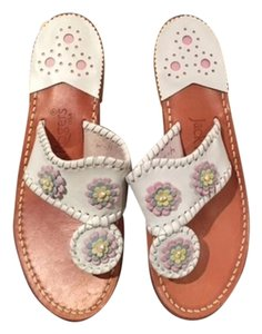Jack Rogers Navajo New White Sandals