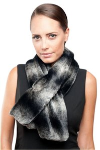 Stevie Mac New York Chinchilla Faux Fur , Pull Through Scarf / Wrap