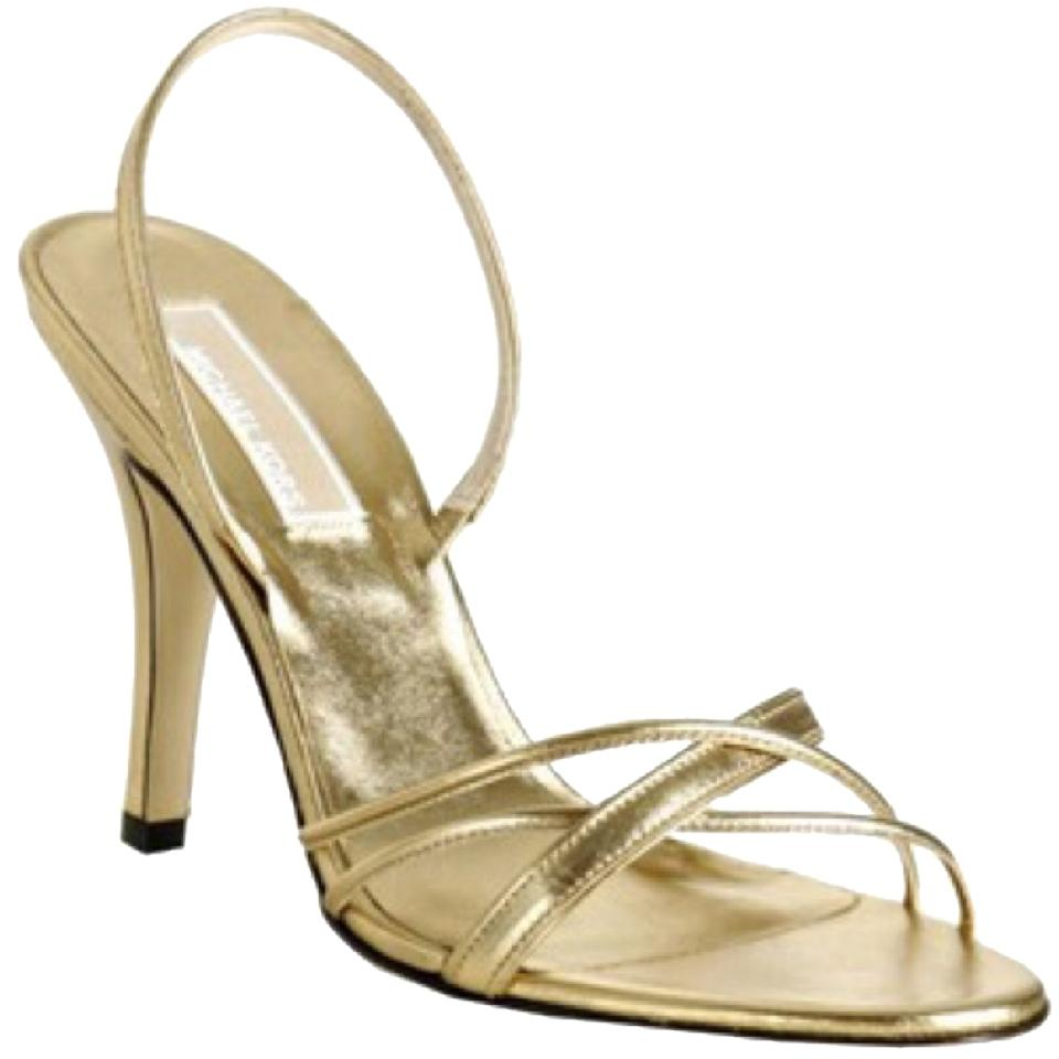 df958cdc064ef Michael Kors Gold Metallic Strappy Heels Formal Shoes Size US 7.5 ...