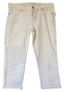 Old Navy Stretchy Pants Midrise Capris White