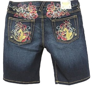 Baby Phat Denim Bermuda Shorts BLUE