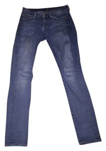 7 For All Mankind Distressed Straight Leg Jeans-Medium Wash