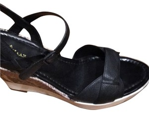 Cole Haan Black with white and lepard sole Wedges