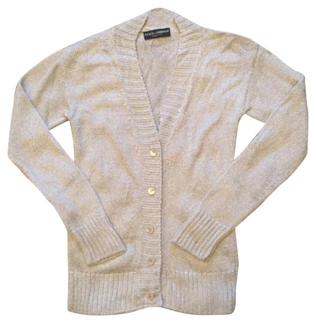 Item - Dolce and Gabbana Dandg D&g Designer Steal Vintage Cardigan Made In Italy Lux Luxary Girlsnightout Gno Silver Sweater