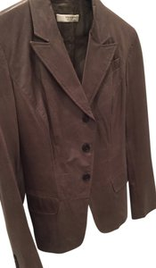 Prada Leather Taupe brown Blazer