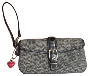 Coach Wristlet in Black & White