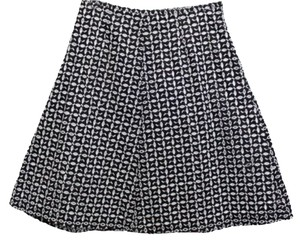 Kim Rogers Cotton Eyelet Skirt BLACK/WHITE