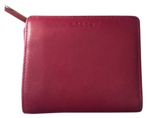 Coach Coach Red Leather Foldable Wallet