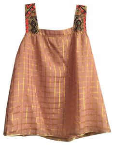 Anthropologie Top Petal pink/gold