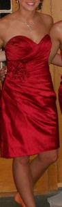 Allure Bridals Deep Red (Drpred) Formal Bridesmaid/Mob Dress Size 4 (S)
