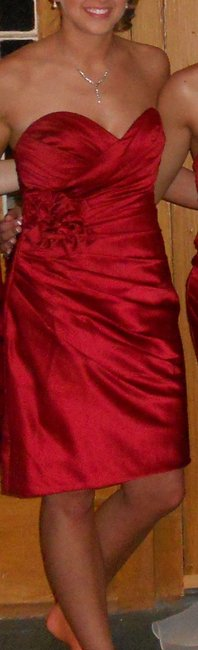 Item - Deep Red (Drpred) Formal Bridesmaid/Mob Dress Size 4 (S)