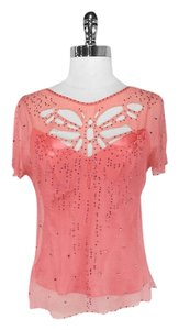 Catherine Malandrino Dragonfly Top Coral