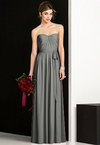 After Six Charcoal Gray 6678 Dress